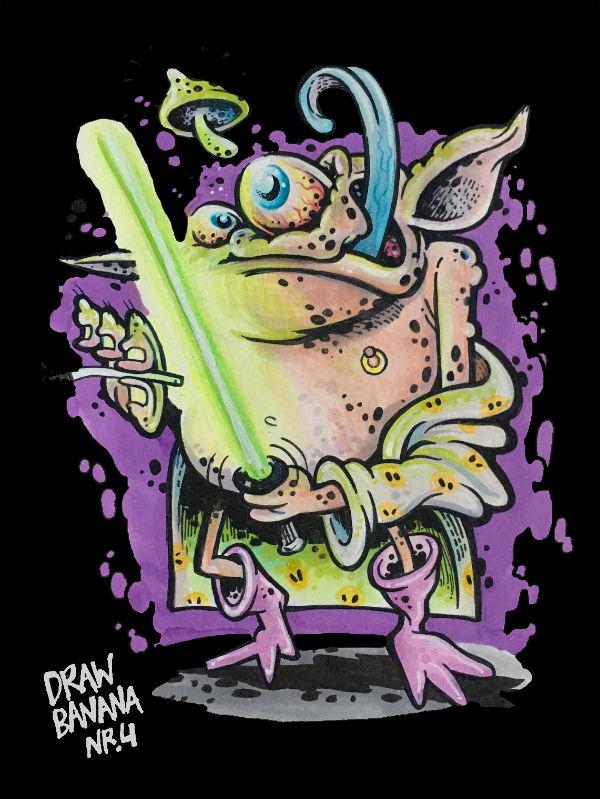 Drawing Banana 4 Kinky Yoda