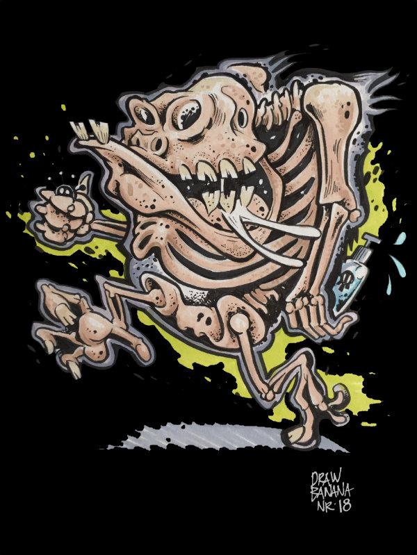 Draw Banana 18 Skeleton-Inside Cosmik Havik