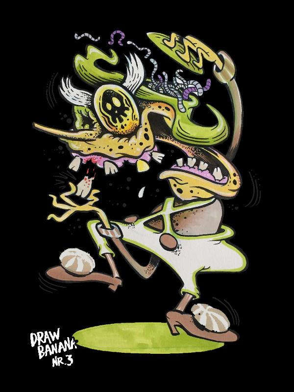 Drawing Banana 3 Creepy Loopa