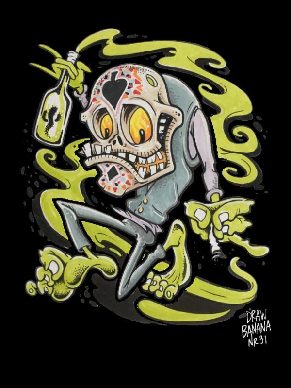 Draw Banana 31 Dia de los muertos Cosmik Havik